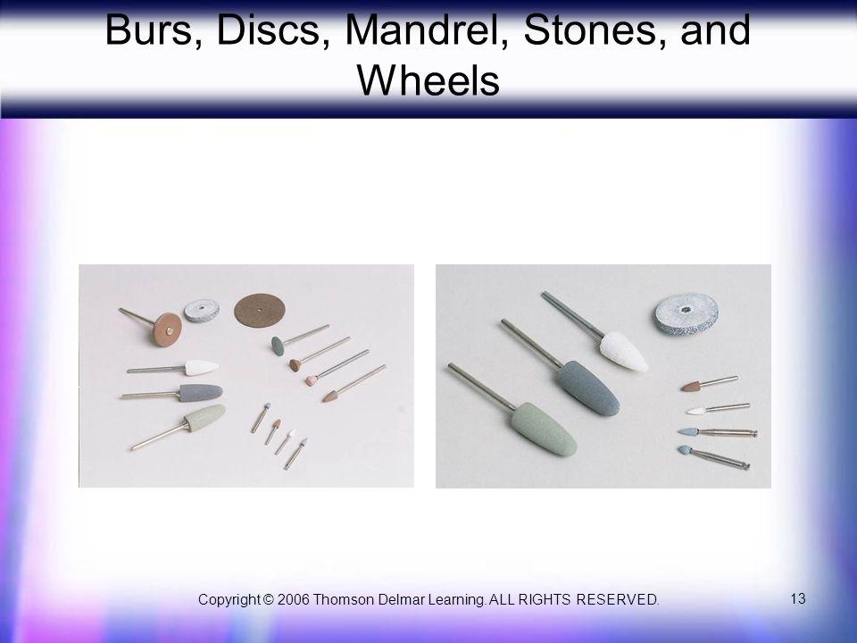 Burs, Discs, Mandrel, Stones, and Wheels