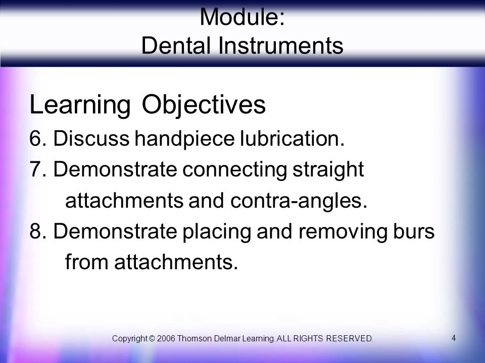 Module: Dental Instruments