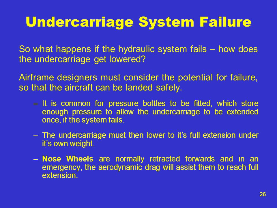 Undercarriage System Failure