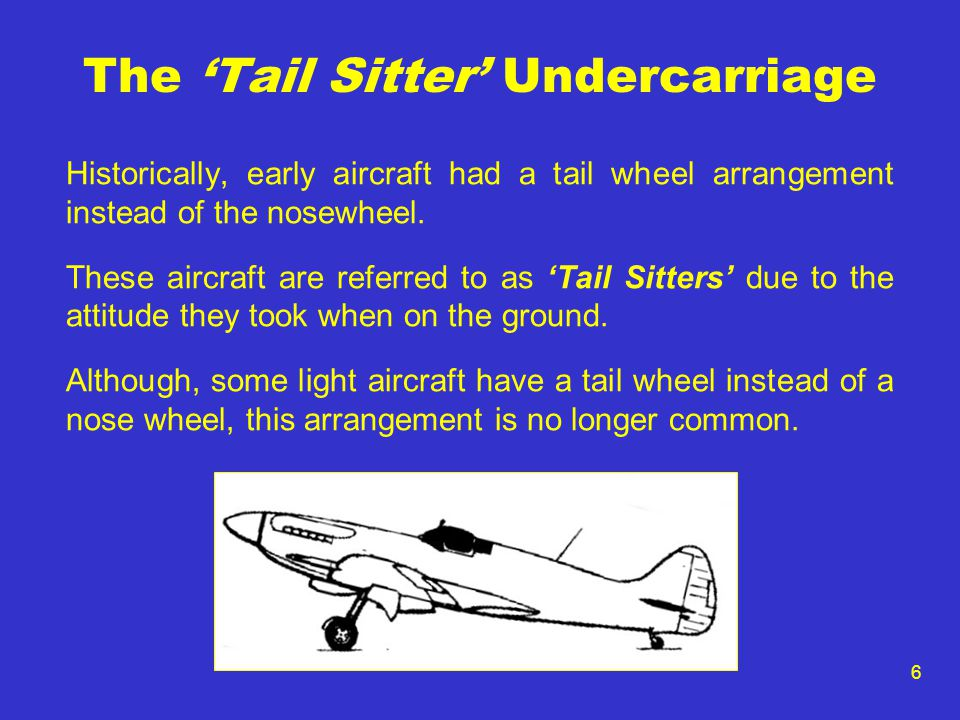 The 'Tail Sitter' Undercarriage