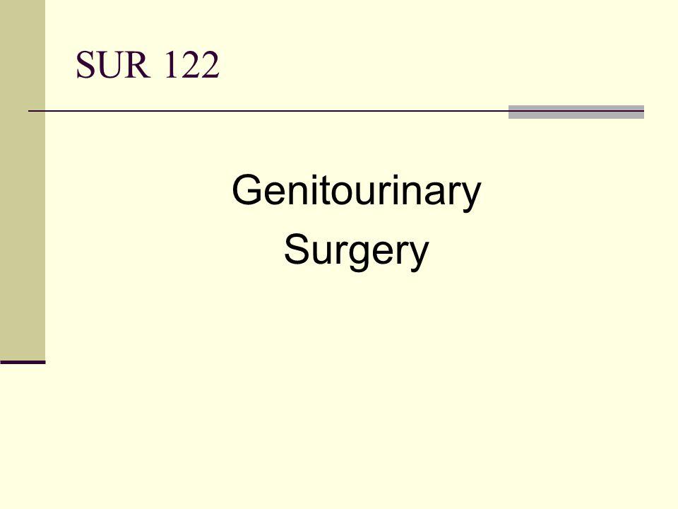 SUR 122 Genitourinary Surgery