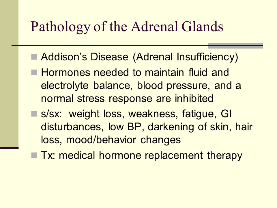 Pathology of the Adrenal Glands