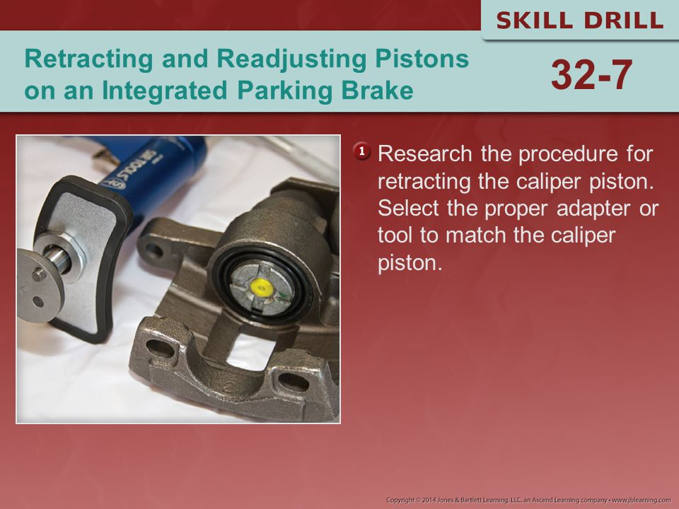 Retracting and Readjusting Pistons on an Integrated Parking Brake