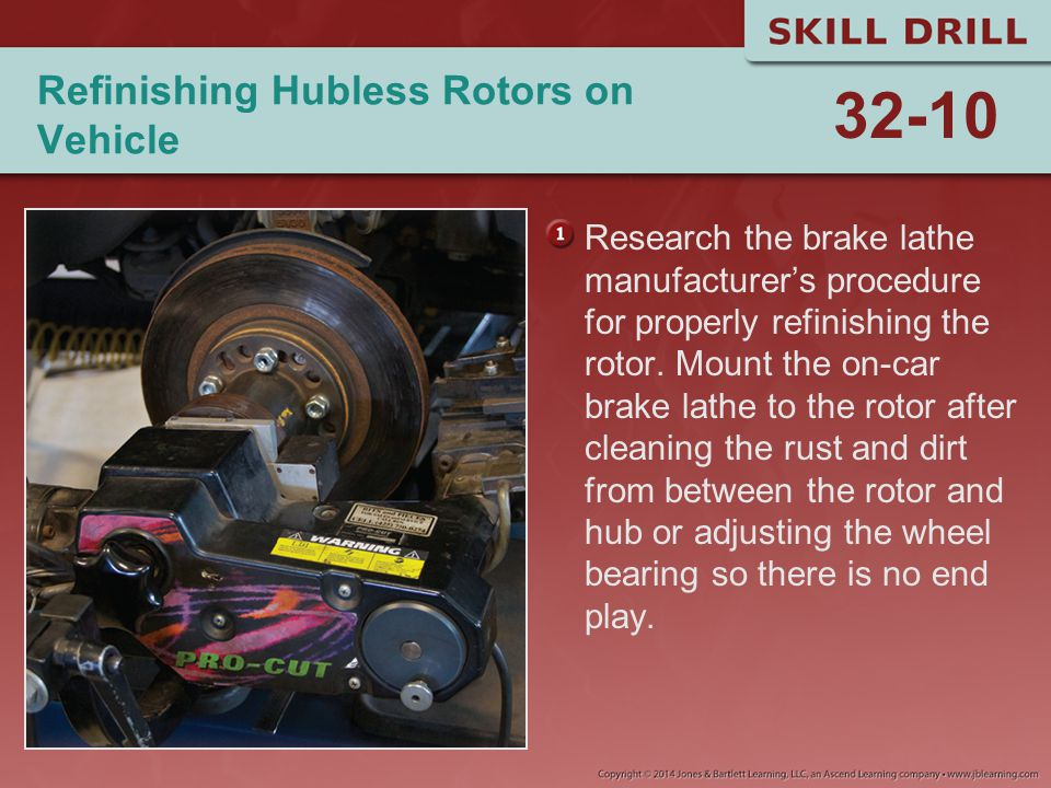 Refinishing Hubless Rotors on Vehicle
