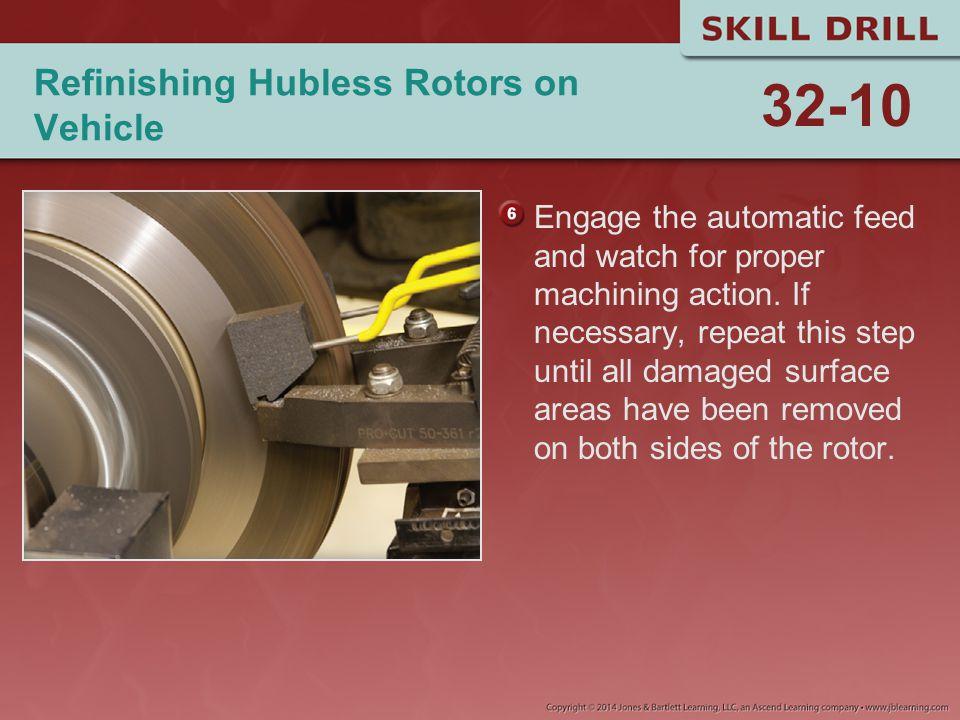 Refinishing Hubless Rotors on Vehicle