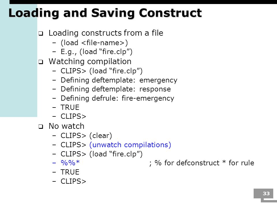 Loading and Saving Construct