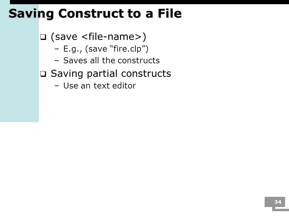 Saving Construct to a File