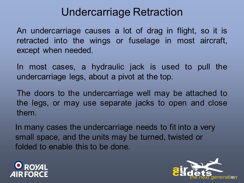 Undercarriage Retraction