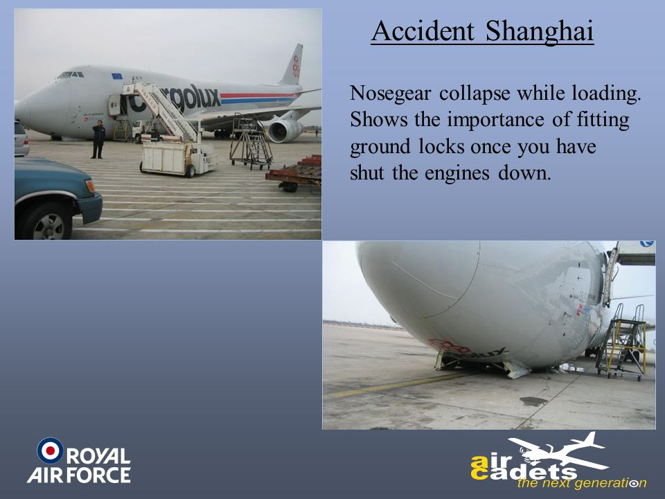 Accident Shanghai Nosegear collapse while loading.