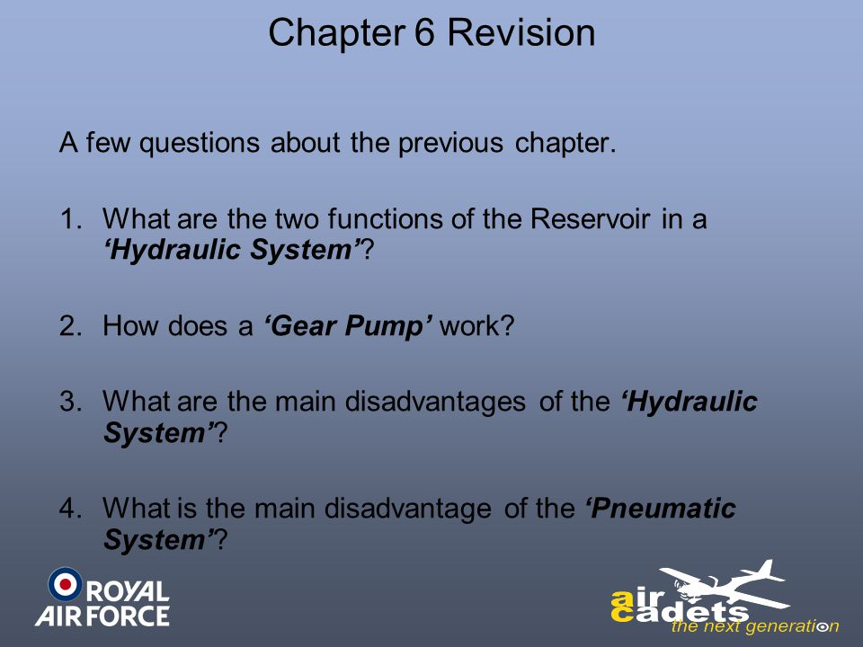 Chapter 6 Revision A few questions about the previous chapter.