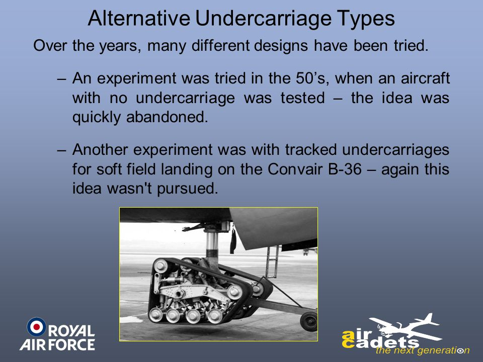 Alternative Undercarriage Types