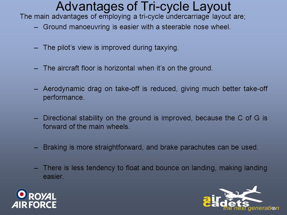 Advantages of Tri-cycle Layout