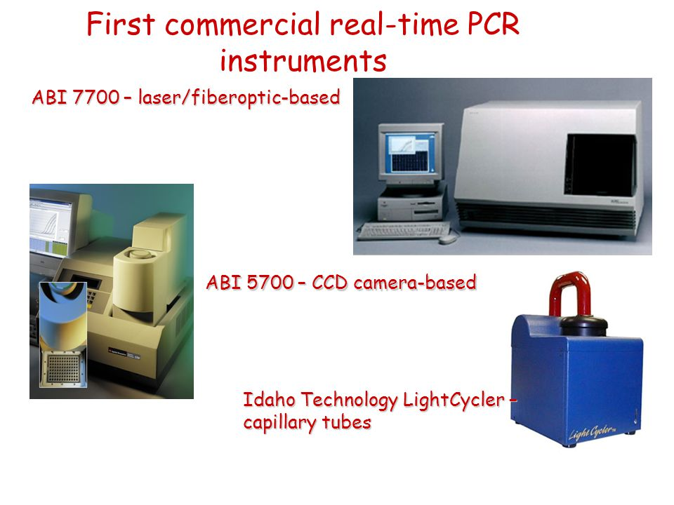 First commercial real-time PCR instruments