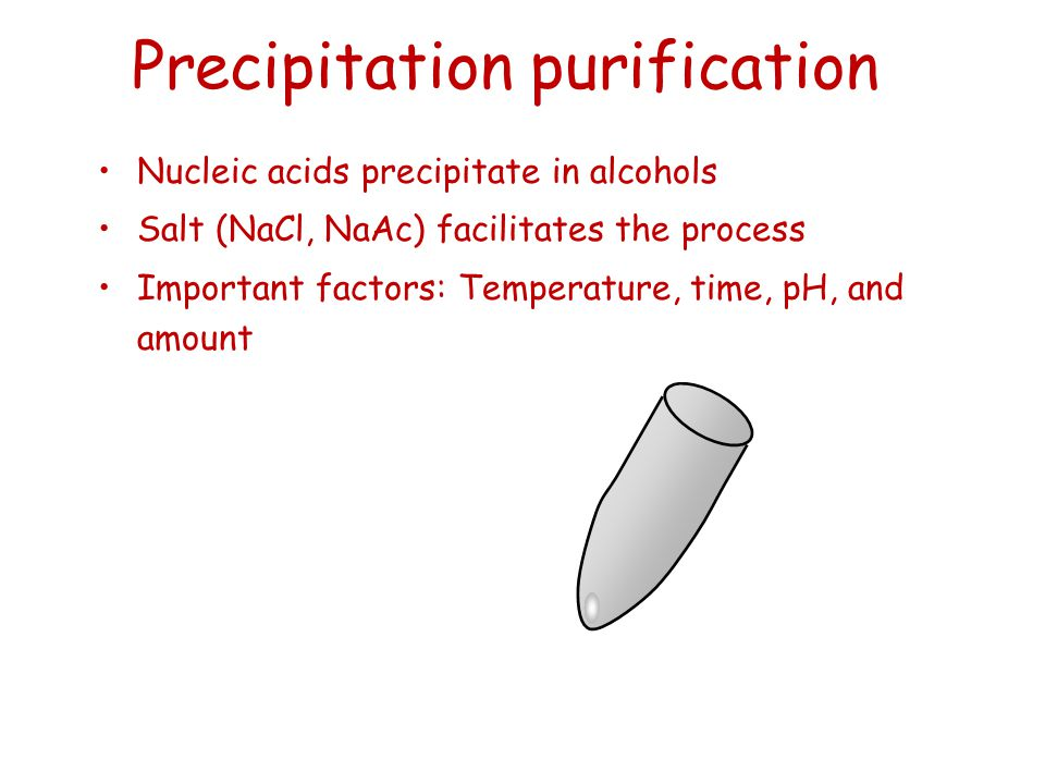 Precipitation purification