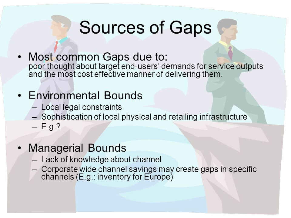 Sources of Gaps