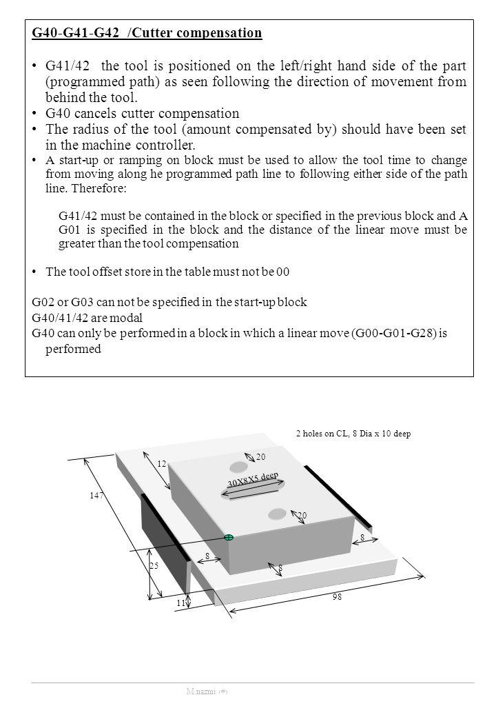 G40-G41-G42 /Cutter compensation