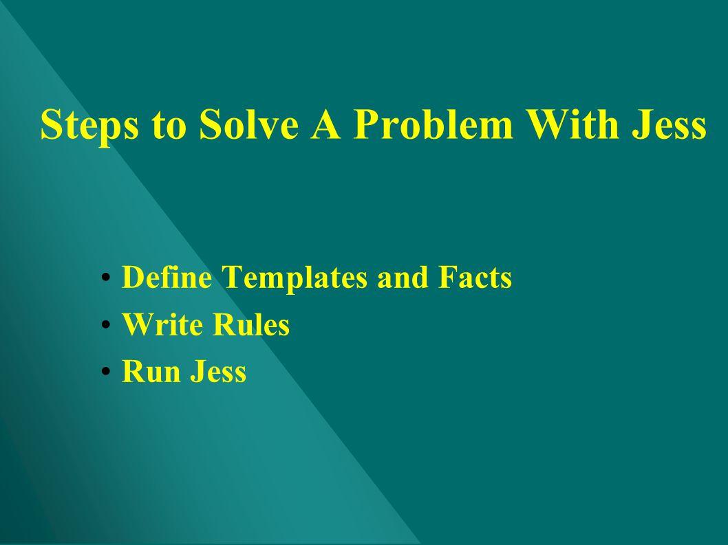 Steps to Solve A Problem With Jess