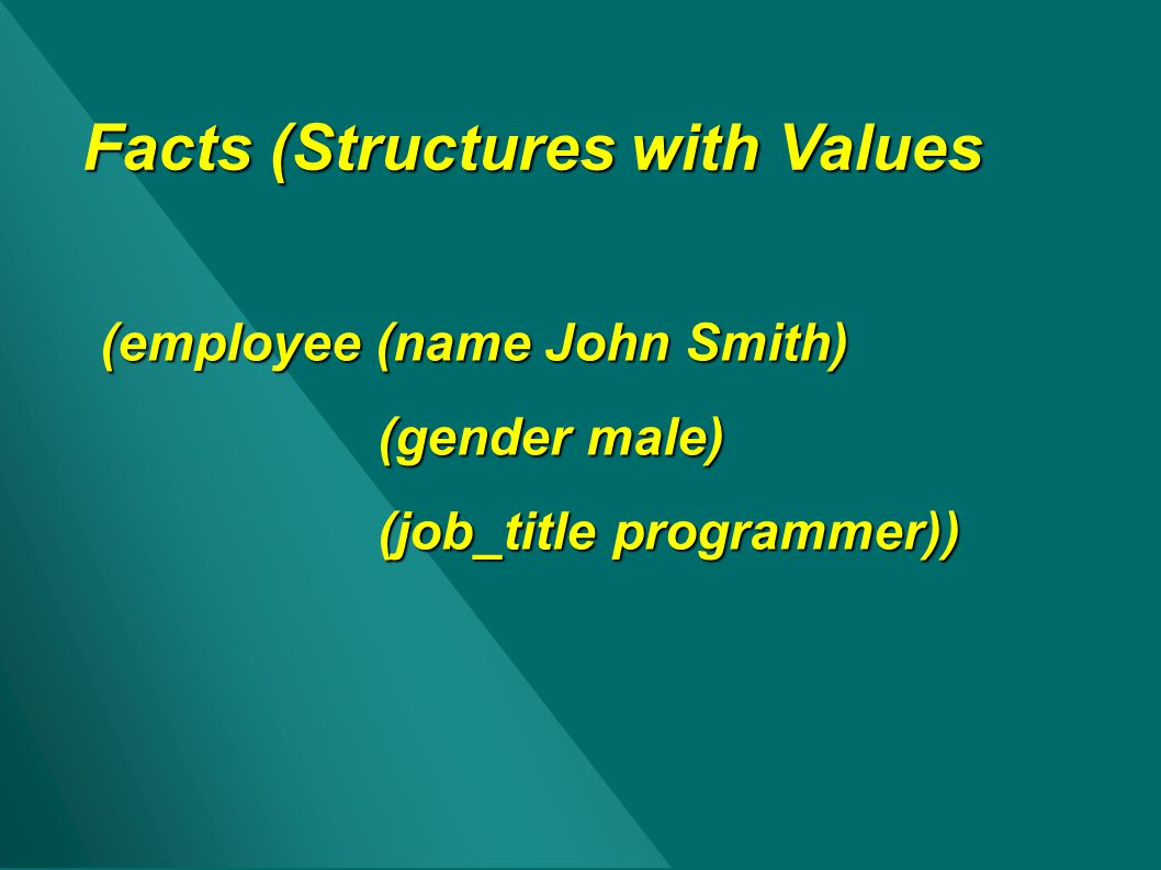 Facts (Structures with Values