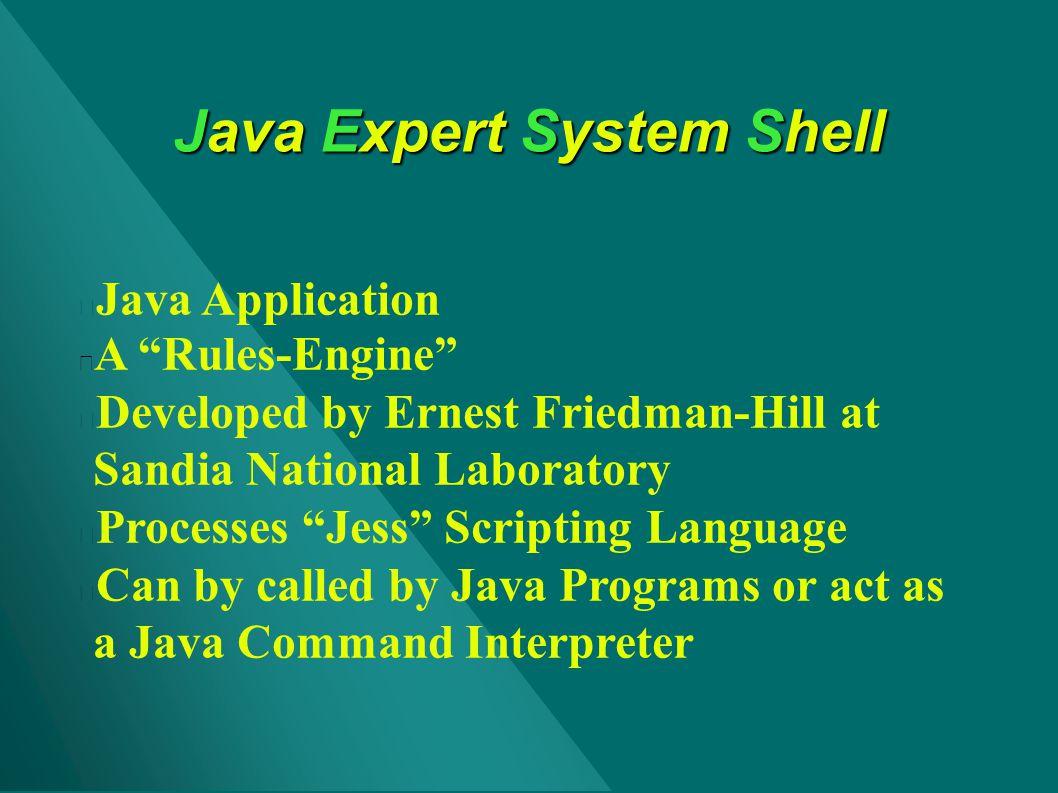 Java Expert System Shell