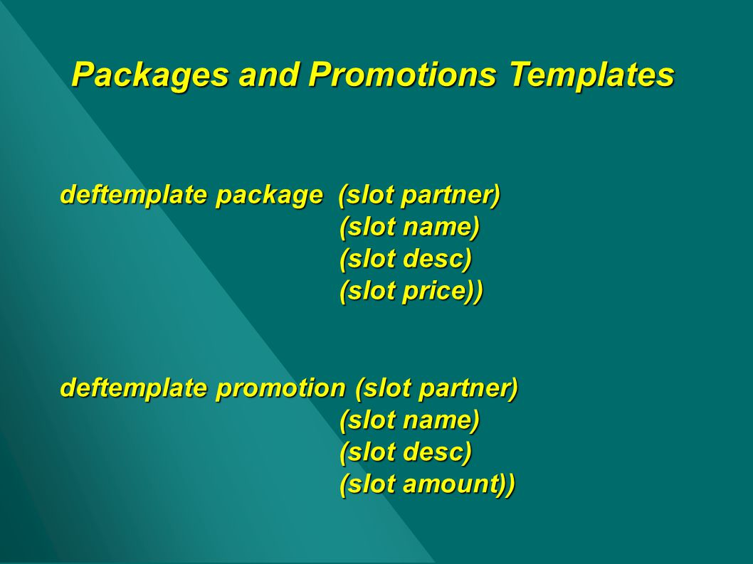 Packages and Promotions Templates