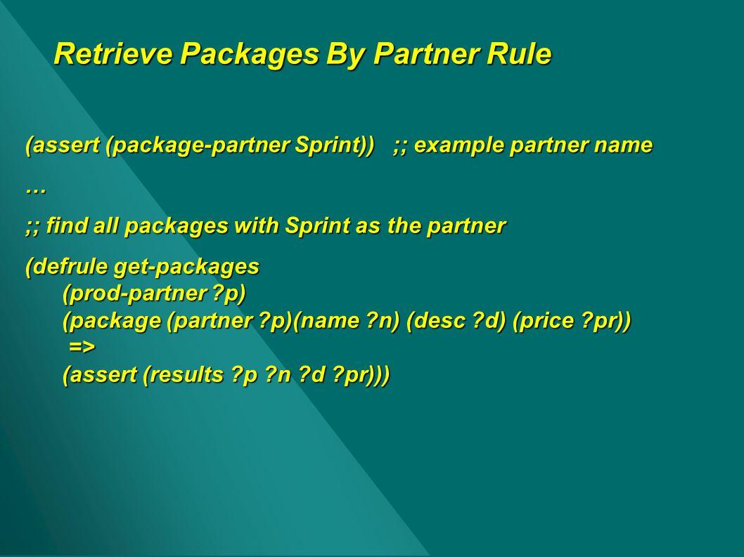 Retrieve Packages By Partner Rule