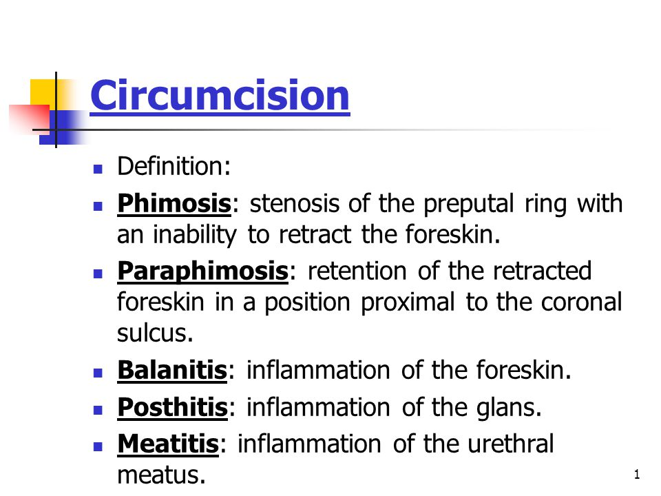 Circumcision Definition: