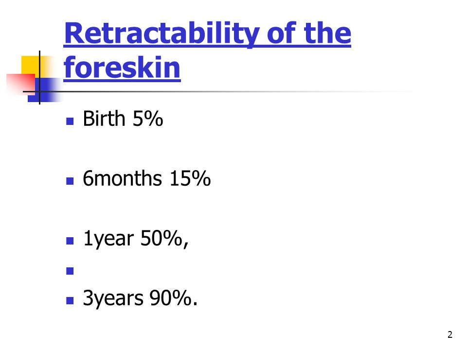 Retractability of the foreskin
