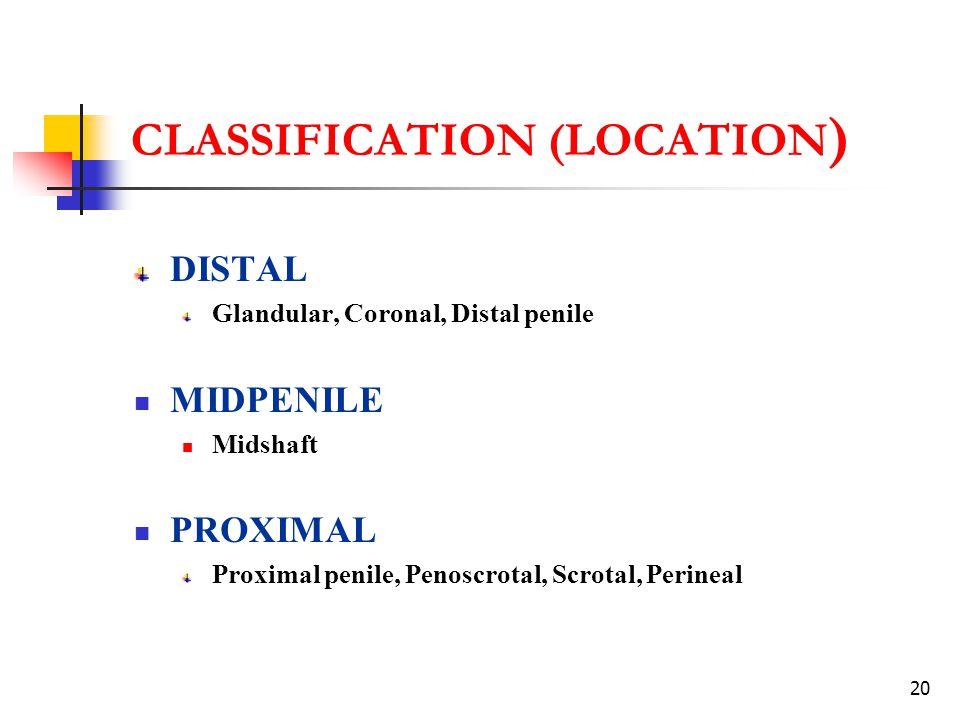 CLASSIFICATION (LOCATION)