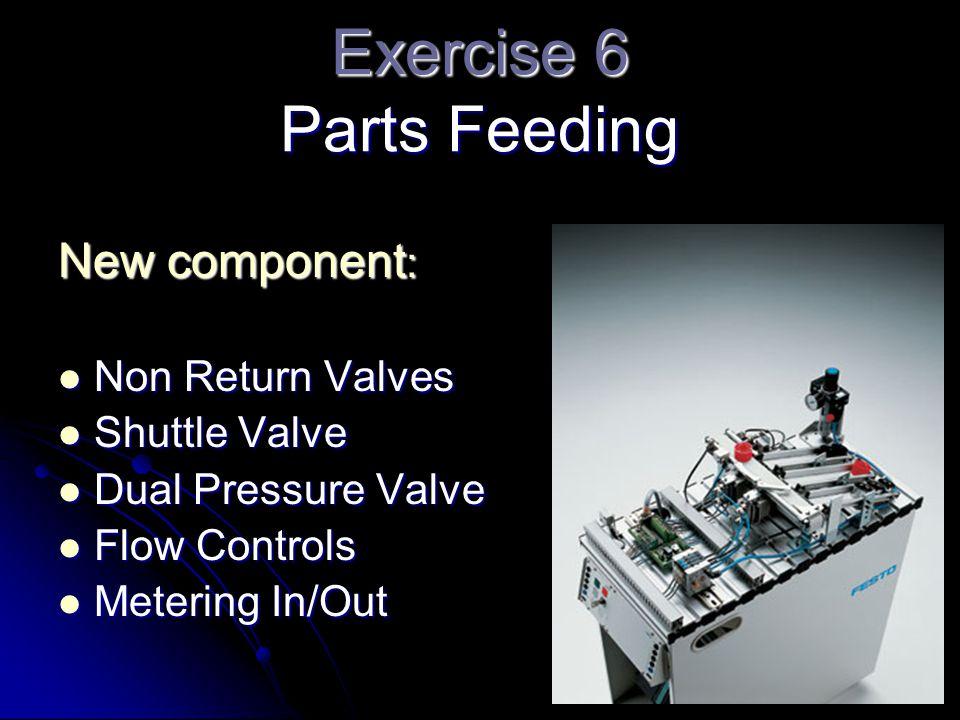 Exercise 6 Parts Feeding