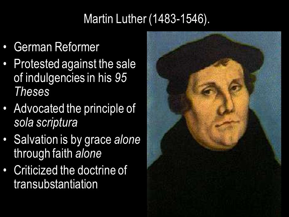 Protested against the sale of indulgencies in his 95 Theses
