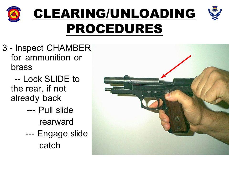 CLEARING/UNLOADING PROCEDURES