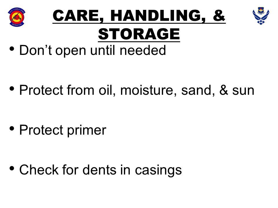 CARE, HANDLING, & STORAGE