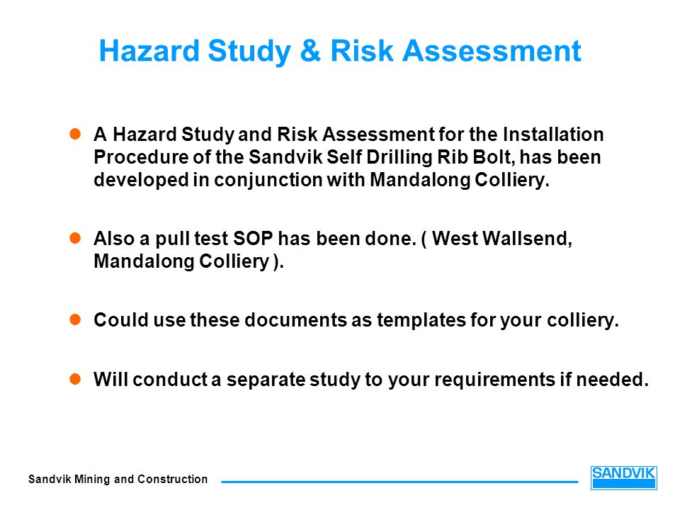 Hazard Study & Risk Assessment