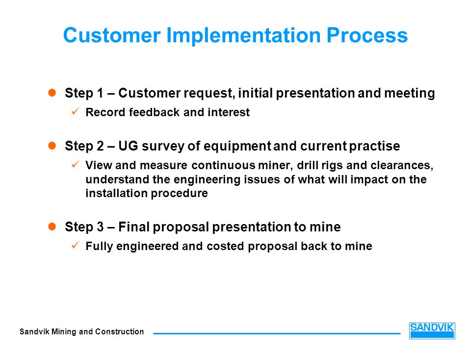 Customer Implementation Process