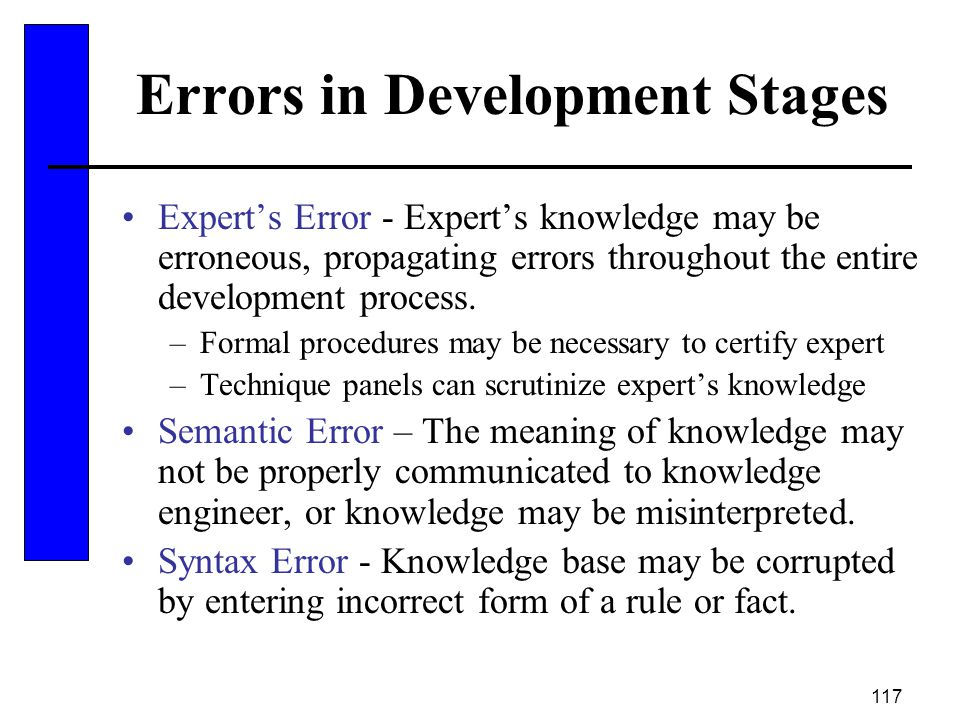 Errors in Development Stages