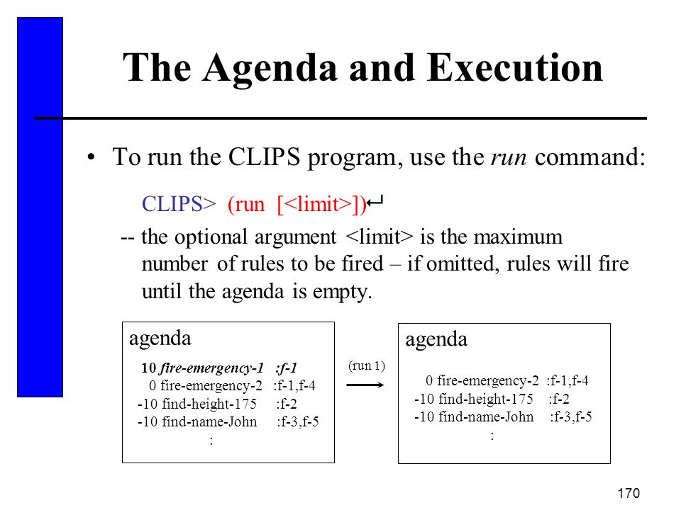 The Agenda and Execution
