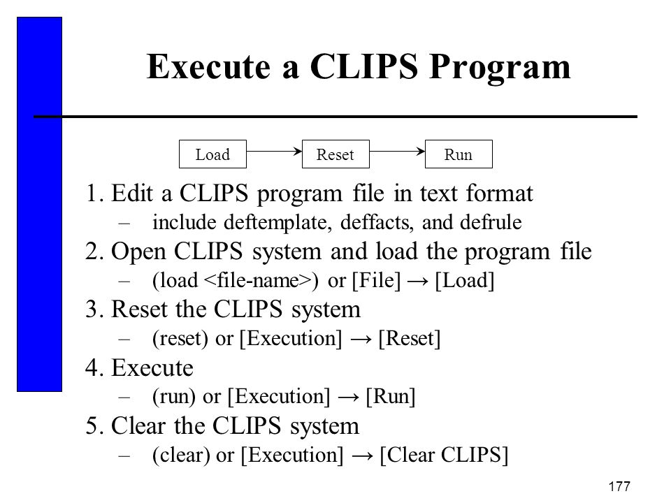 Execute a CLIPS Program