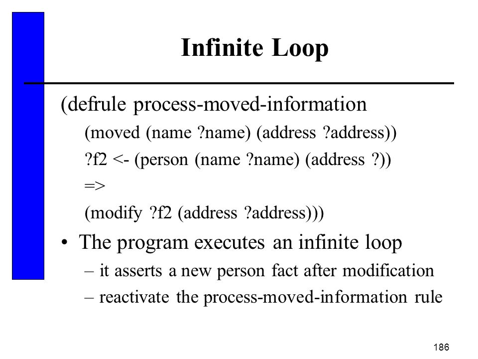 Infinite Loop (defrule process-moved-information