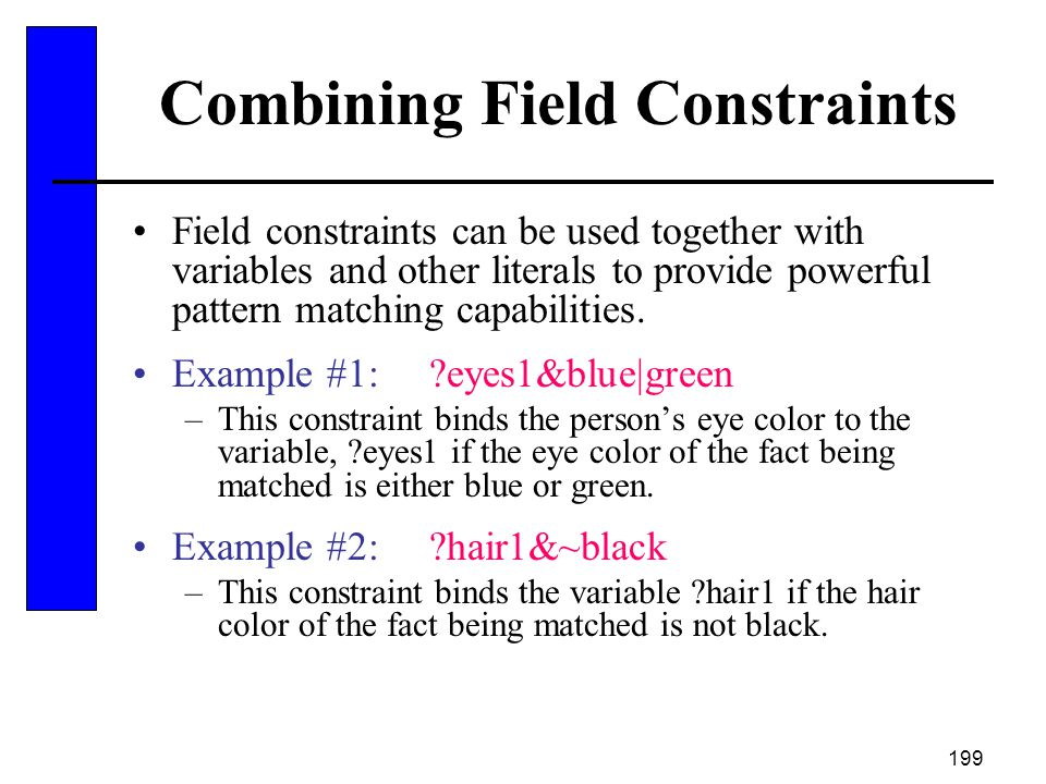 Combining Field Constraints