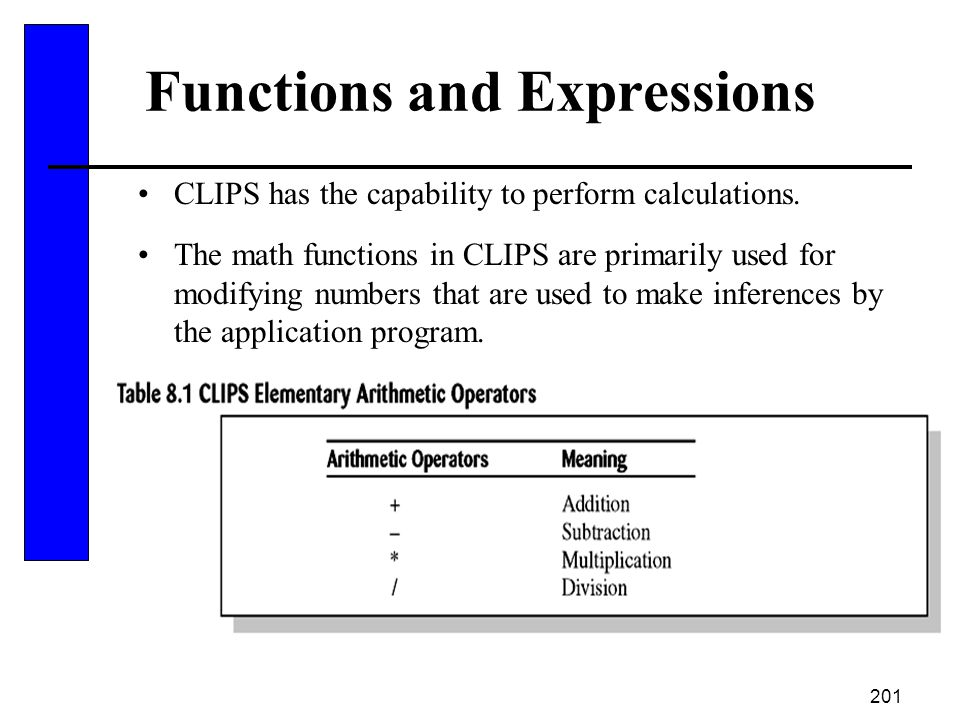 Functions and Expressions