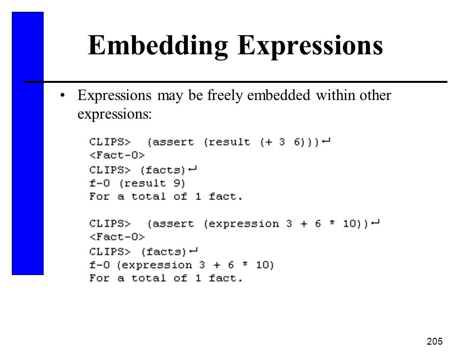 Embedding Expressions