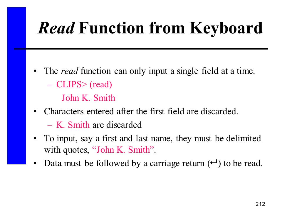Read Function from Keyboard