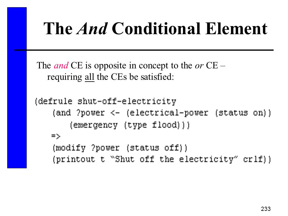 The And Conditional Element