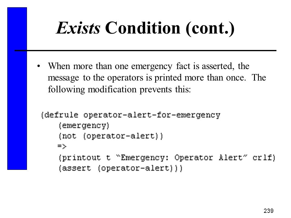 Exists Condition (cont.)