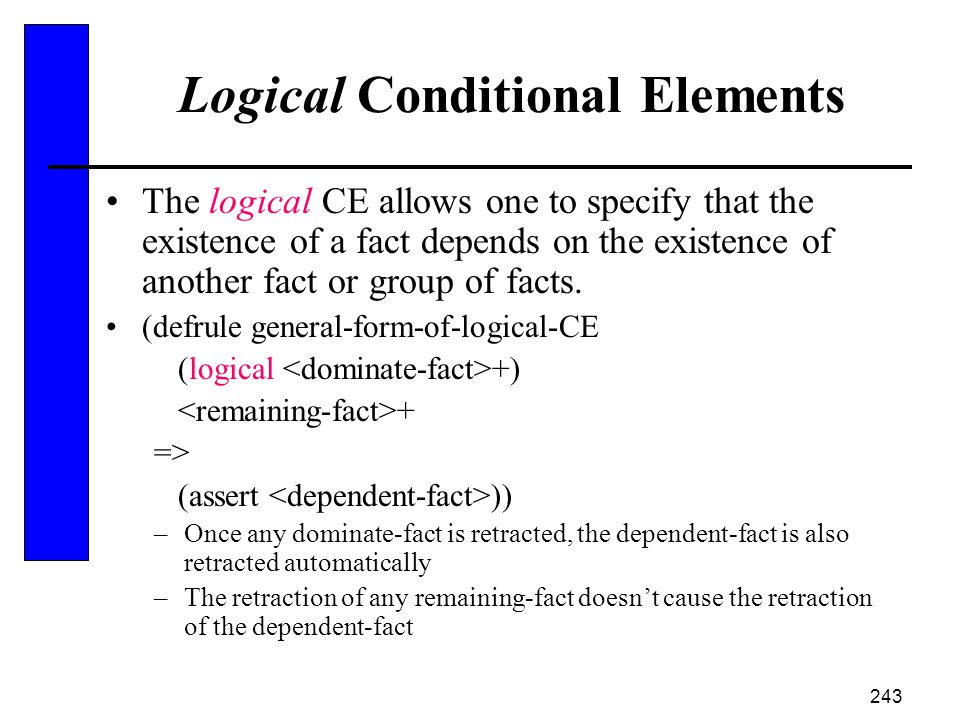 Logical Conditional Elements