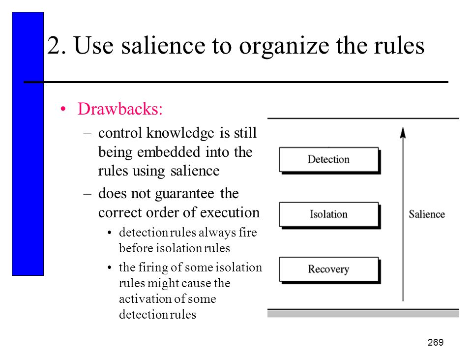 2. Use salience to organize the rules