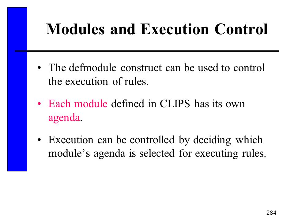 Modules and Execution Control
