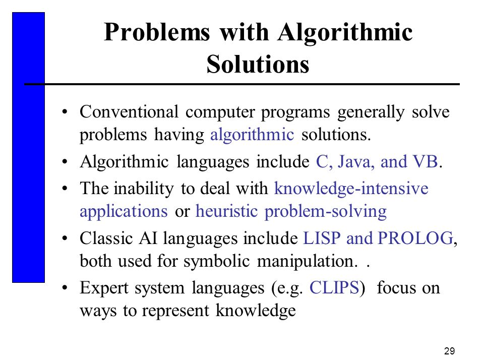 Problems with Algorithmic Solutions