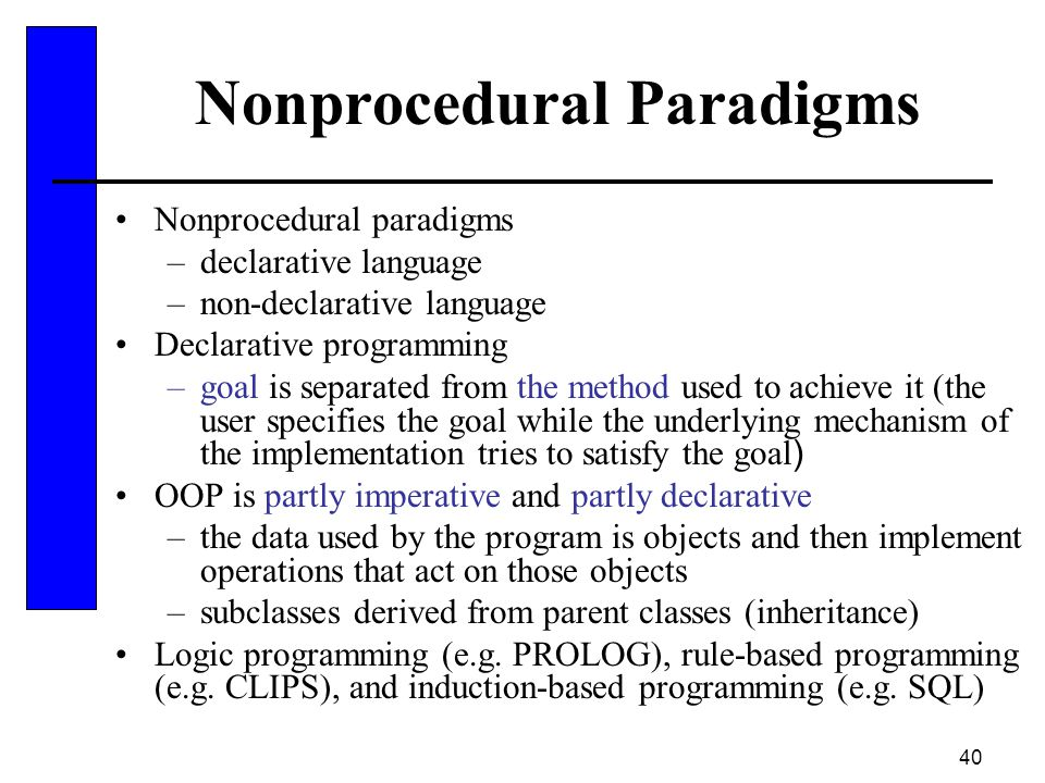 Nonprocedural Paradigms