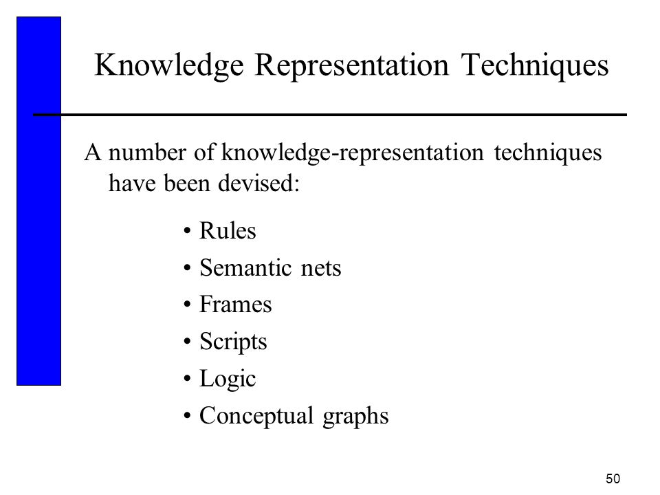 Knowledge Representation Techniques